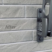 外壁の物干しフック位置調整後のビス穴補修!!~新築戸建て現場~の画像